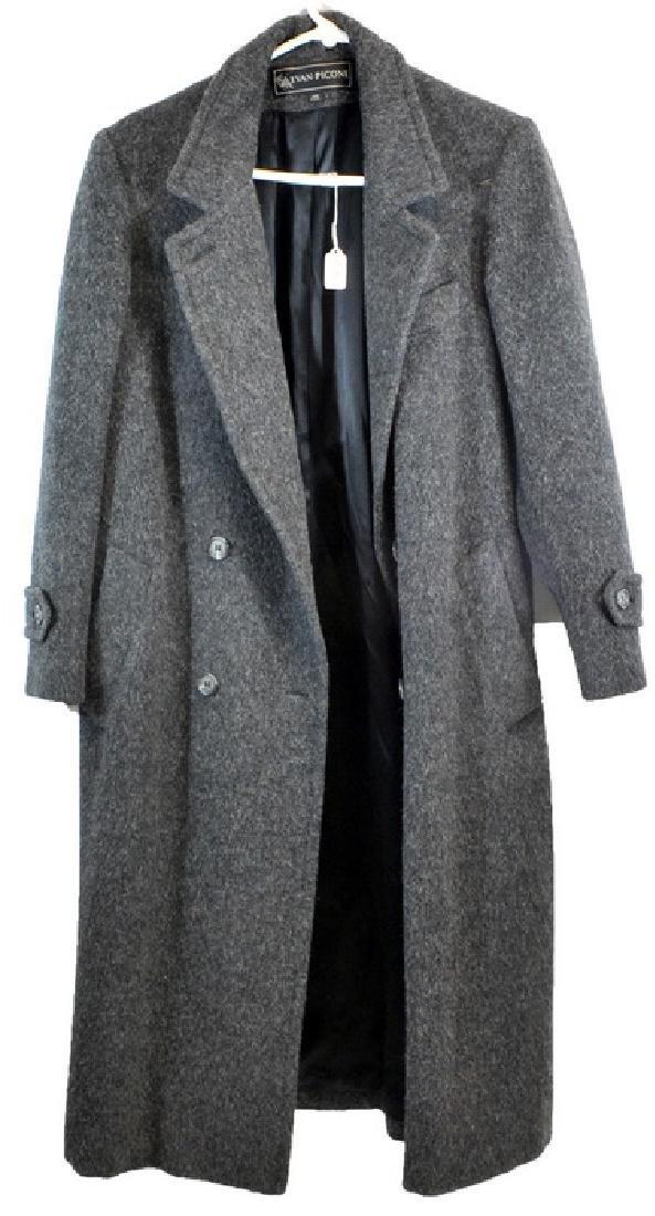 Frank Sinatra Gray Wool Overcoat
