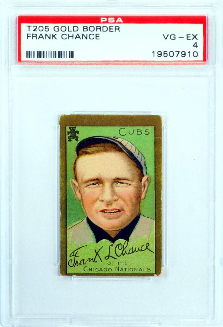 1911 T205 Frank Chance Psa 4