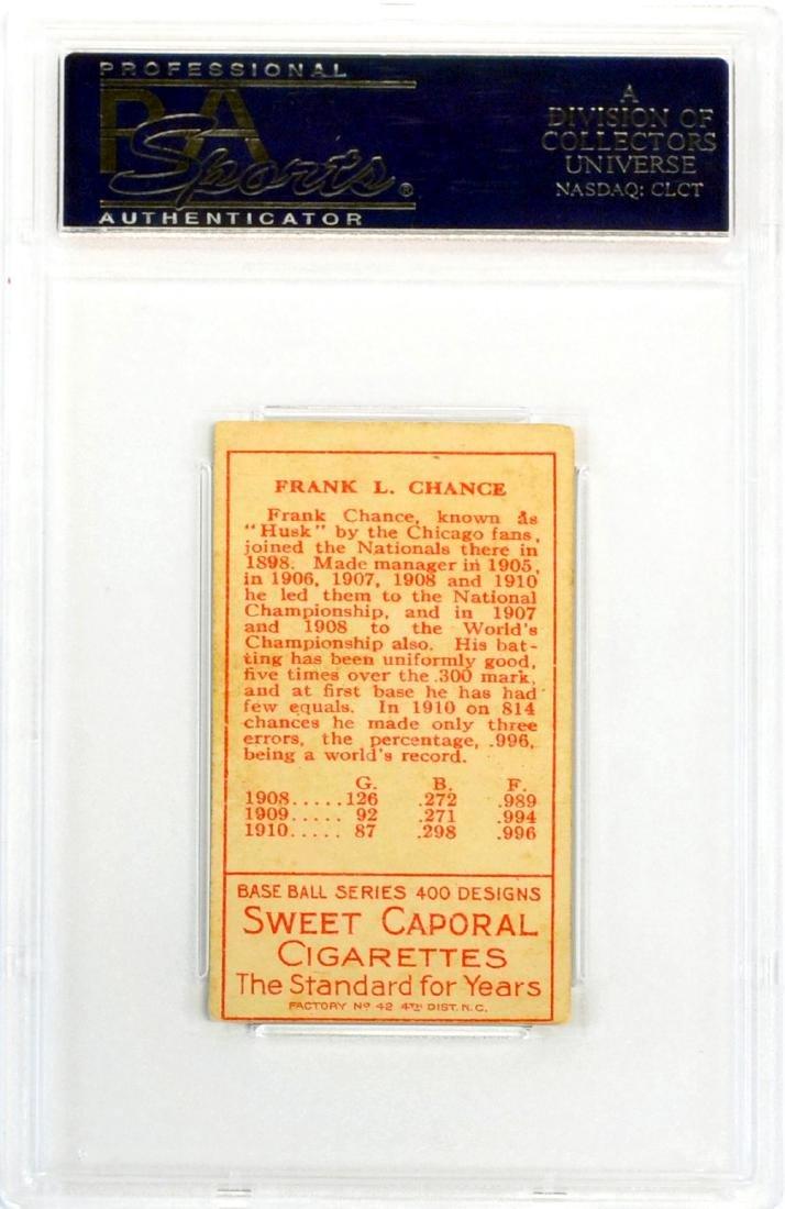 1911 T205 Frank Chance Psa 4 - 2