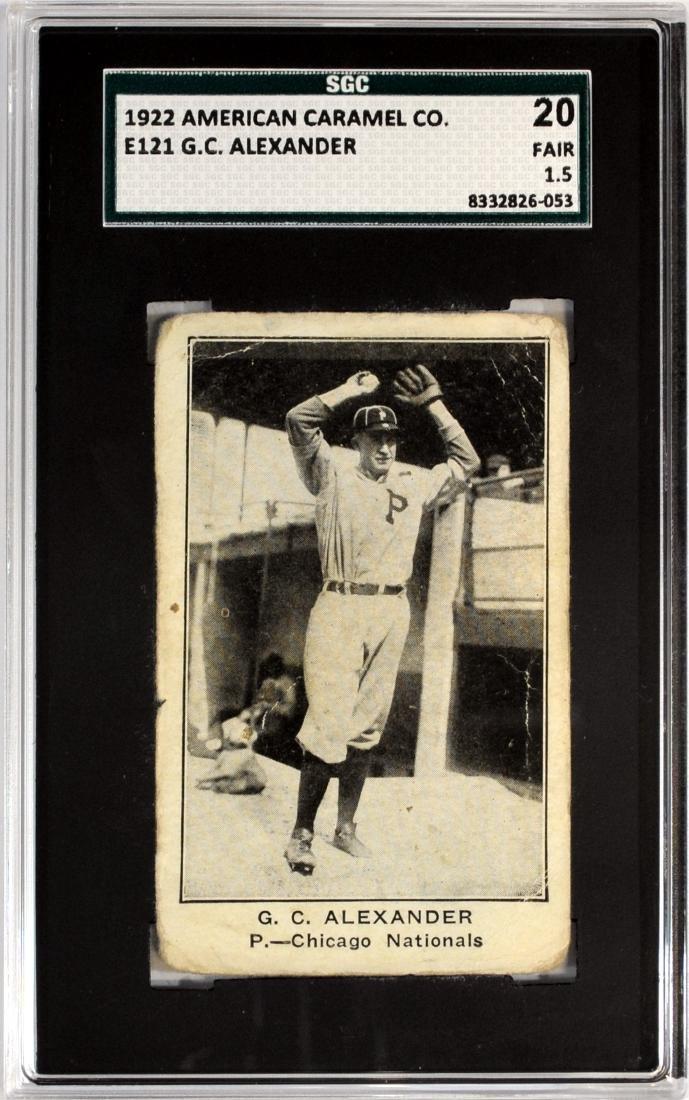 1922 American Caramel Grover Alexander E121