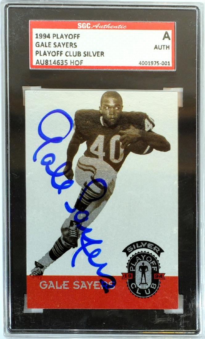 1994 Playoff Gale Sayers Auto Psa Authentic
