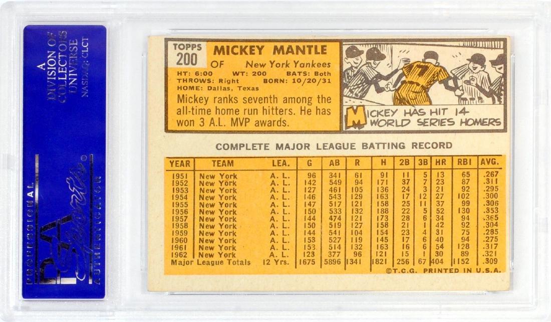 1963 Topps Mickey Mantle Psa 4 - 2
