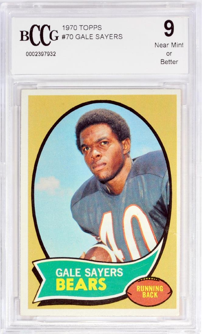 1970 Topps Gale Sayers Bvg 9 Near Mint