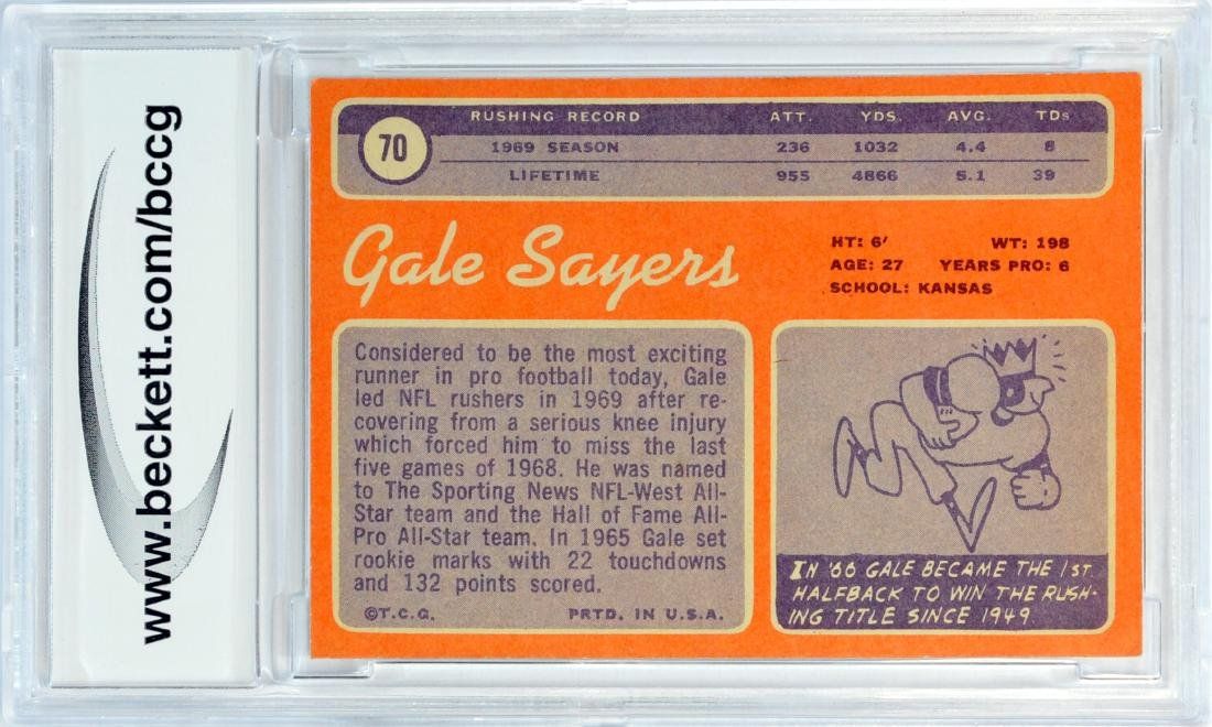 1970 Topps Gale Sayers Bvg 9 Near Mint - 2