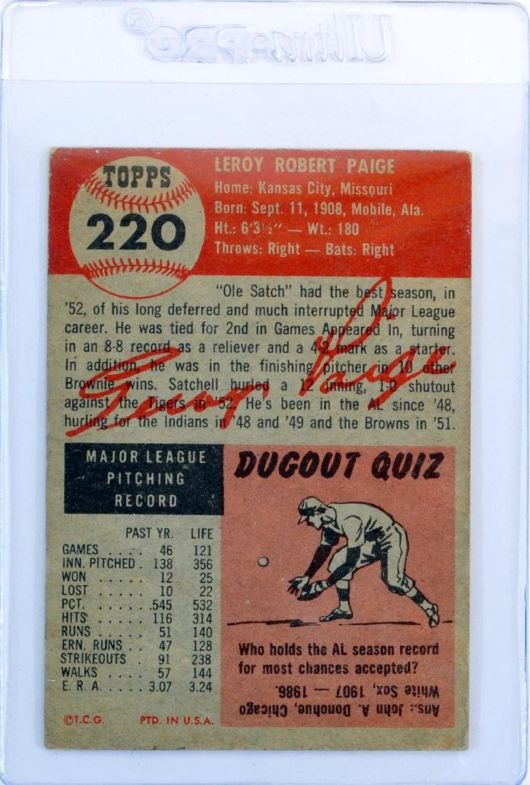 1953 Topps Satchel Paige - 2