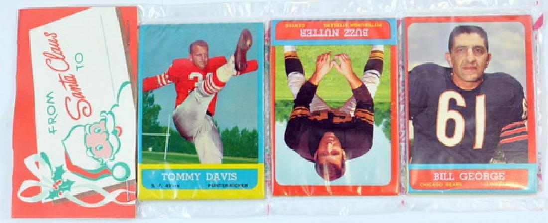 2  1963 Topps Football Christmas Rack Packs - 3