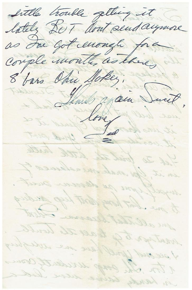 June 6 1953 Letter Written By Ted Williams - 2