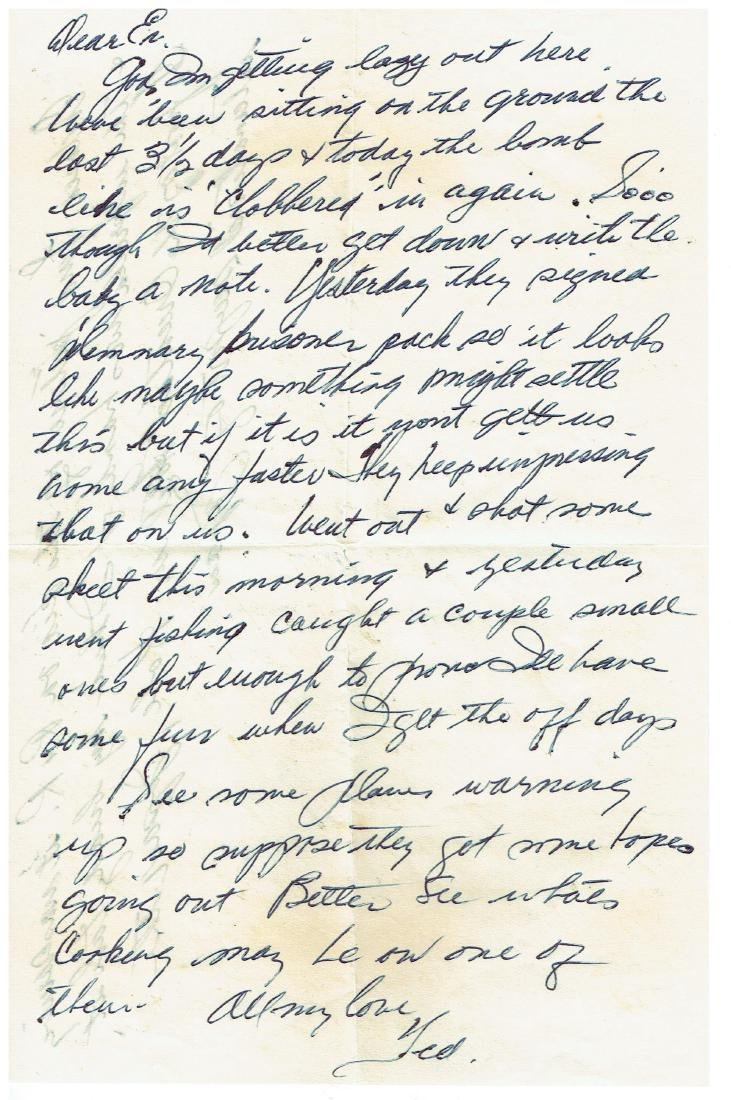 June 12 1953 Letter Written By Ted Williams