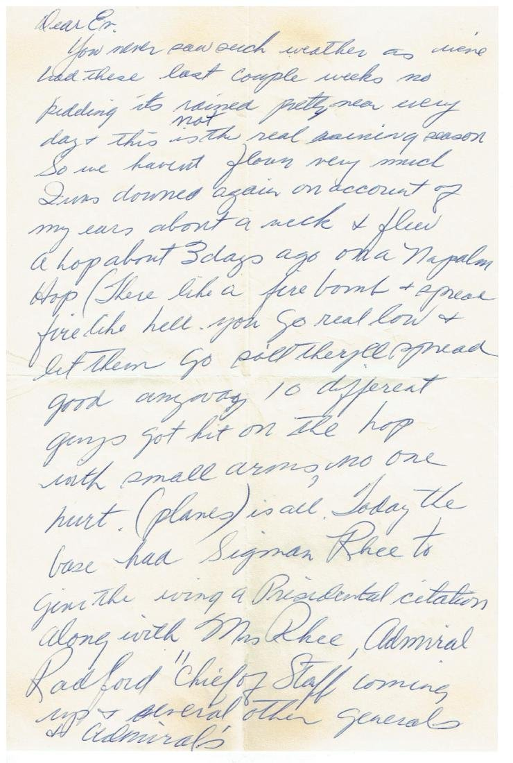 June 17 1953 Letter Written By Ted Williams