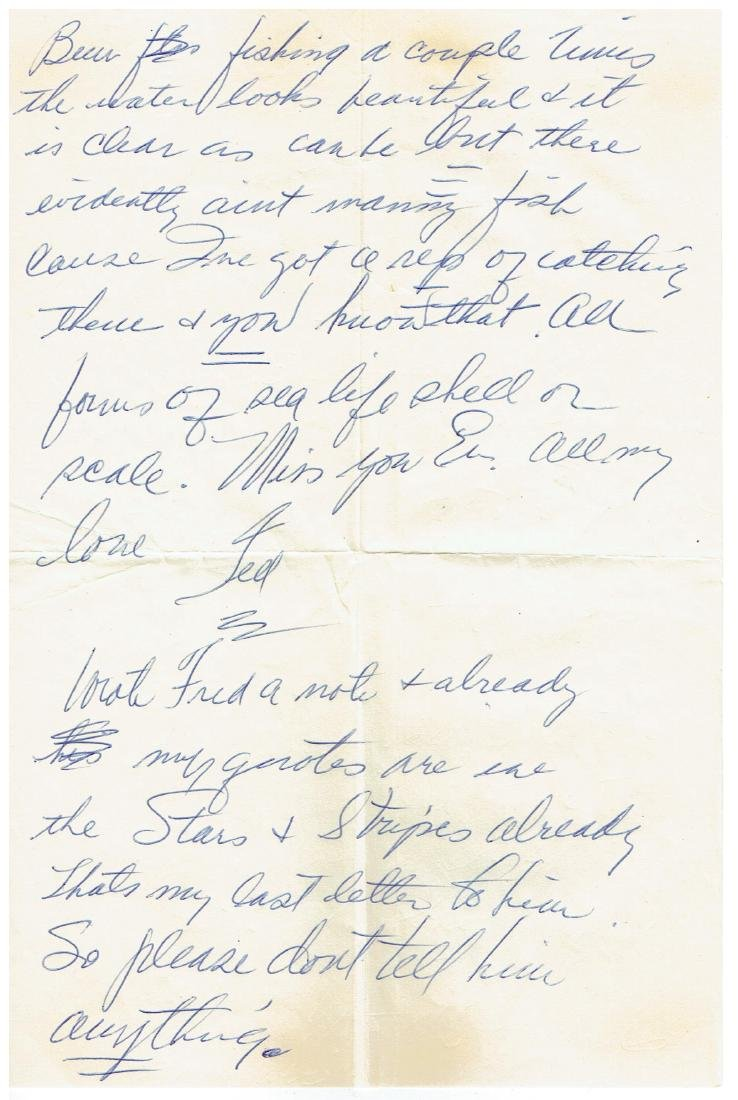 June 17 1953 Letter Written By Ted Williams - 2