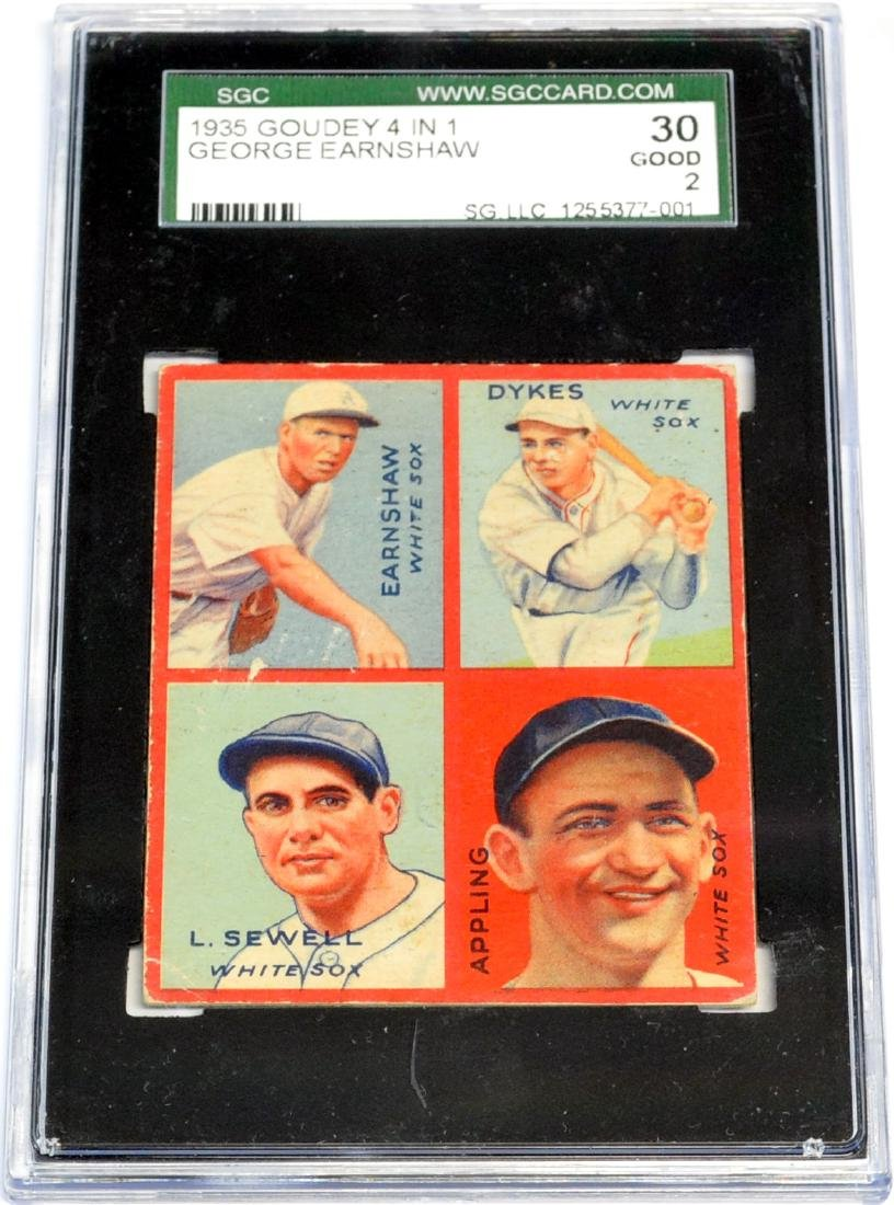 2 1935 Goudey 4 In 1 Cards Graded