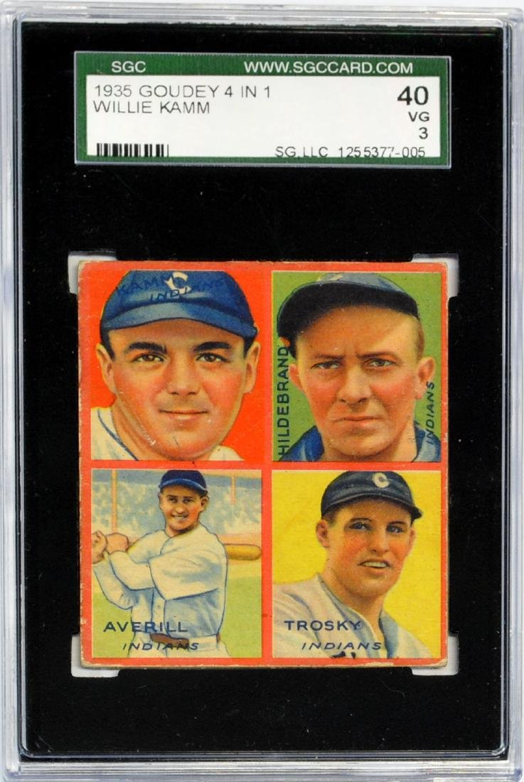 2 1935 Goudey 4 In 1 Cards Graded - 3
