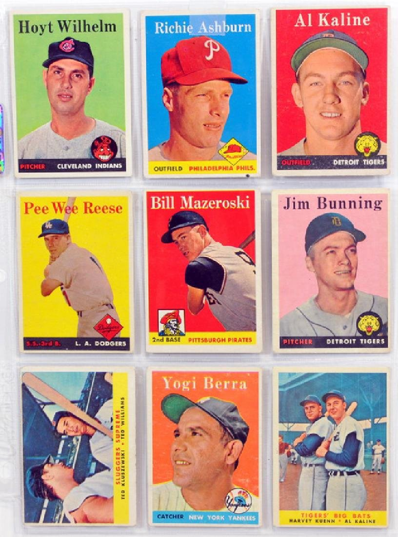 29 1958 Topps Baseball Hall Of Famers