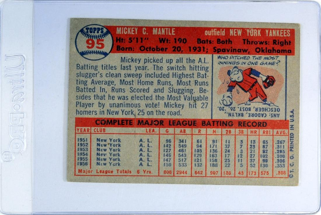 1957 Topps Mickey Mantle - 2