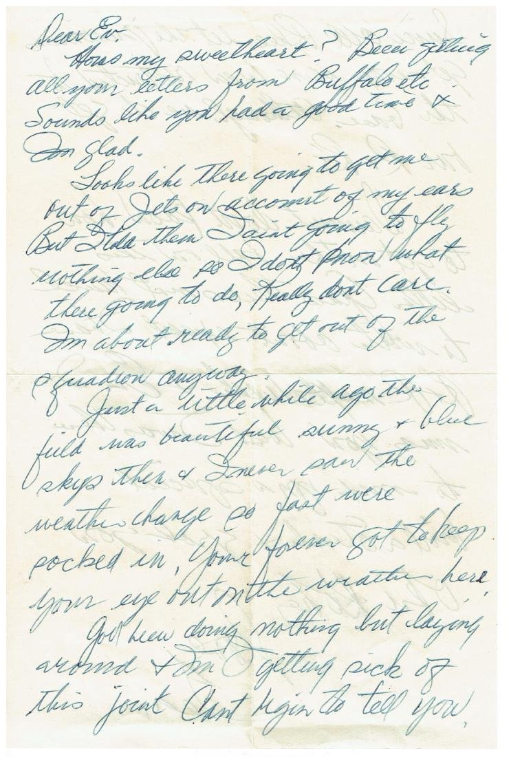 June 26 1953 Letter Written By Ted Williams