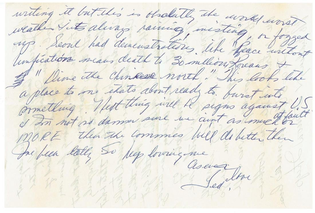 June 26 1953 Letter Written By Ted Williams - 5