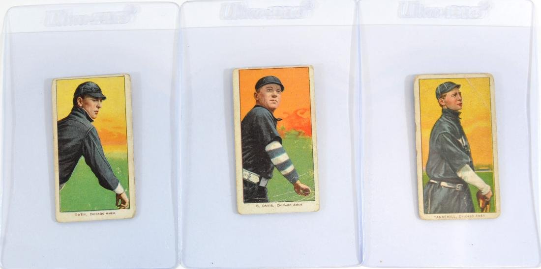 5 1909-11 T206 Cards George Davis/others