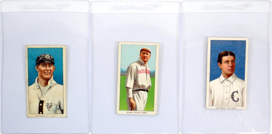 5 1909-11 T206 Cards Vg-ex Condition