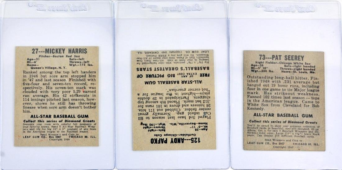 7 1948 Leaf Baseball Cards In Nice Shape - 2