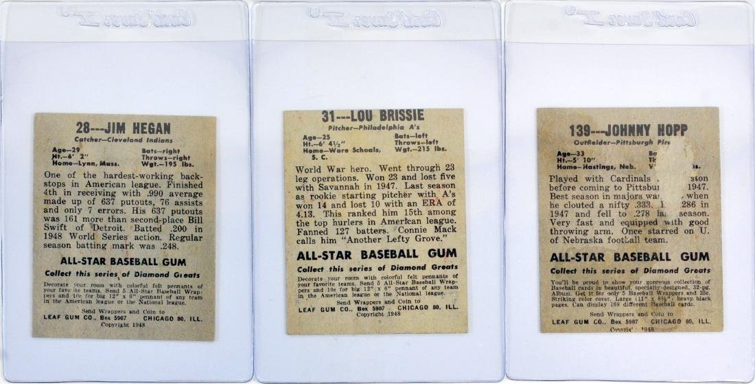 7 1948 Leaf Baseball Cards In Nice Shape - 4