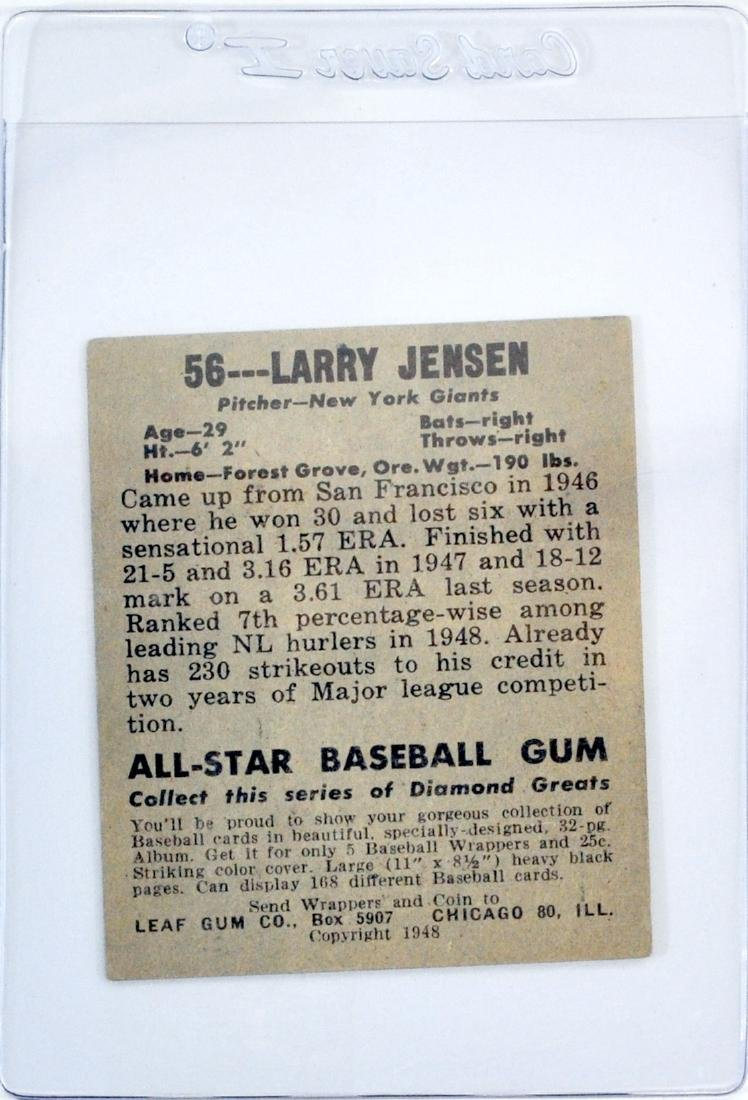 7 1948 Leaf Baseball Cards In Nice Shape - 6