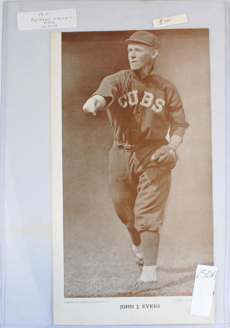 1910 Johnny Evers Baseball Magazine Poster