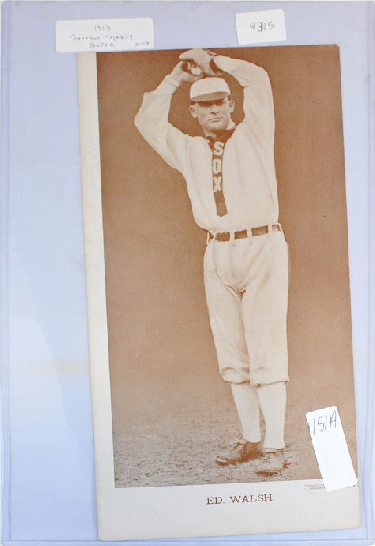 1913 Ed Walsh Baseball Magazine Poster