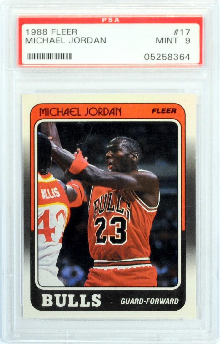 1988 Fleer Michael Jordan Psa 9