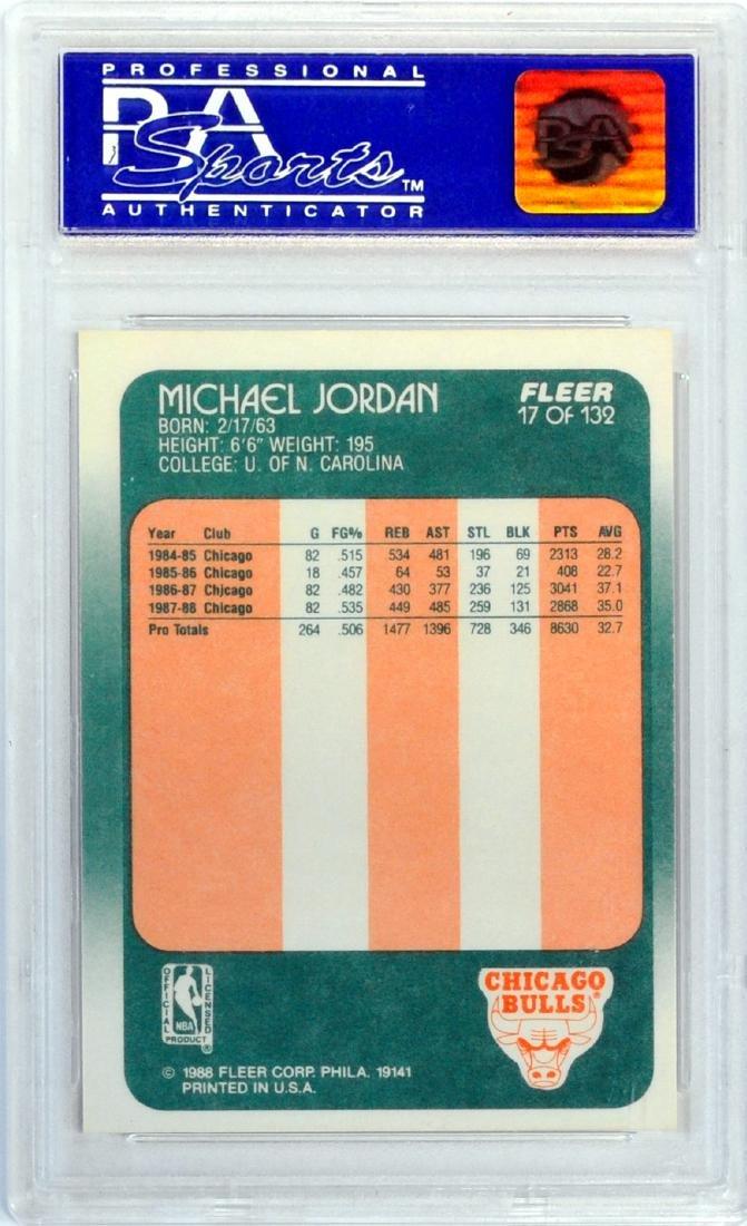 1988 Fleer Michael Jordan Psa 9 - 2
