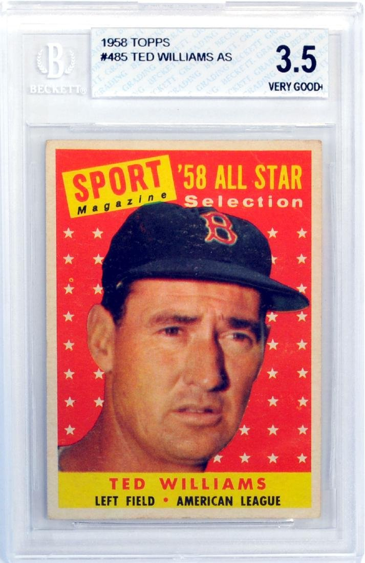 1958 Topps Ted Williams All-star Beckett 3.5