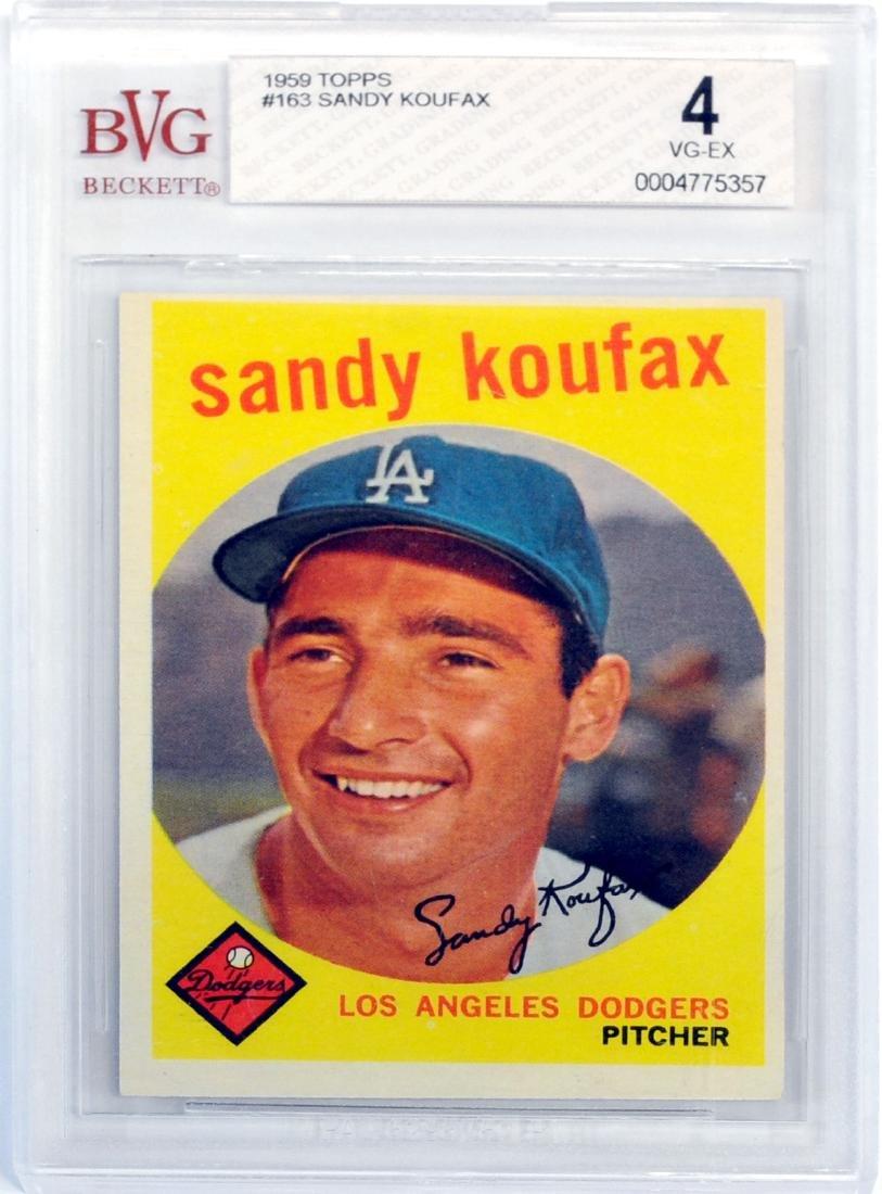 1959 Topps Sandy Koufax Bvg 4