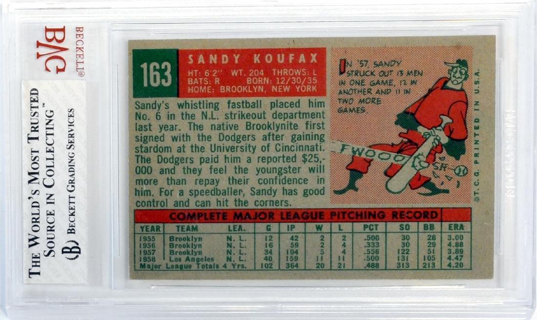 1959 Topps Sandy Koufax Bvg 4 - 2