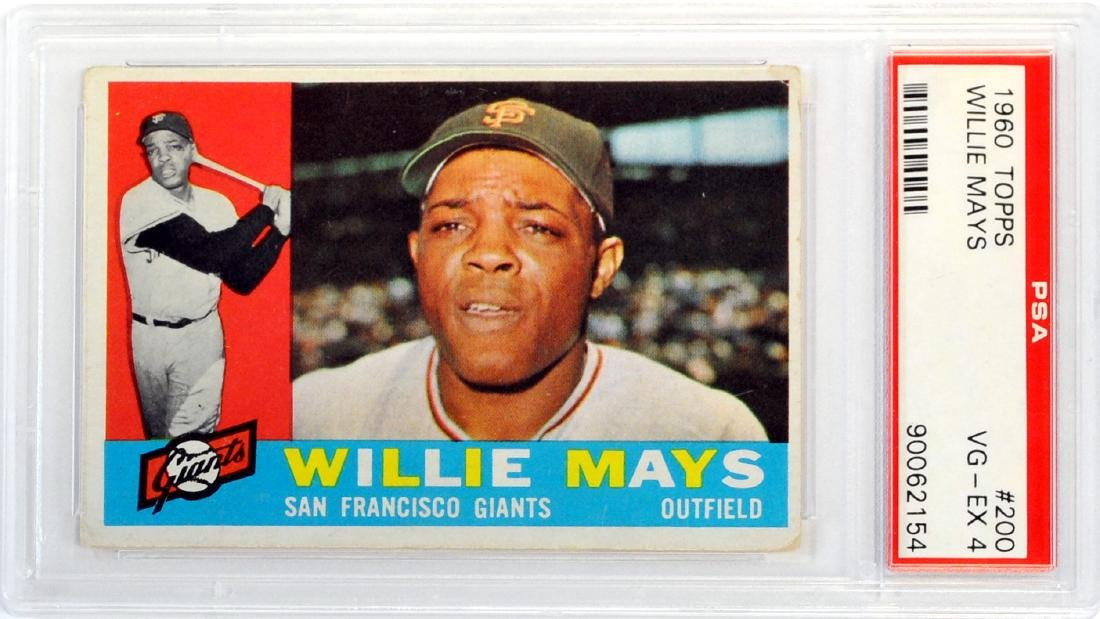 1960 Topps Willie Mays Psa 4