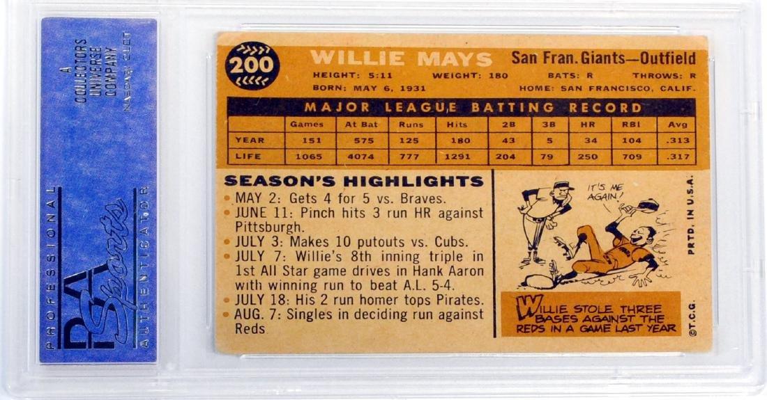 1960 Topps Willie Mays Psa 4 - 2