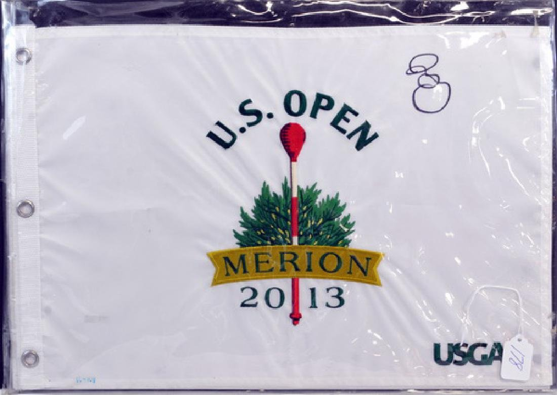 Rory Mcilroy Signed Us Open Flag