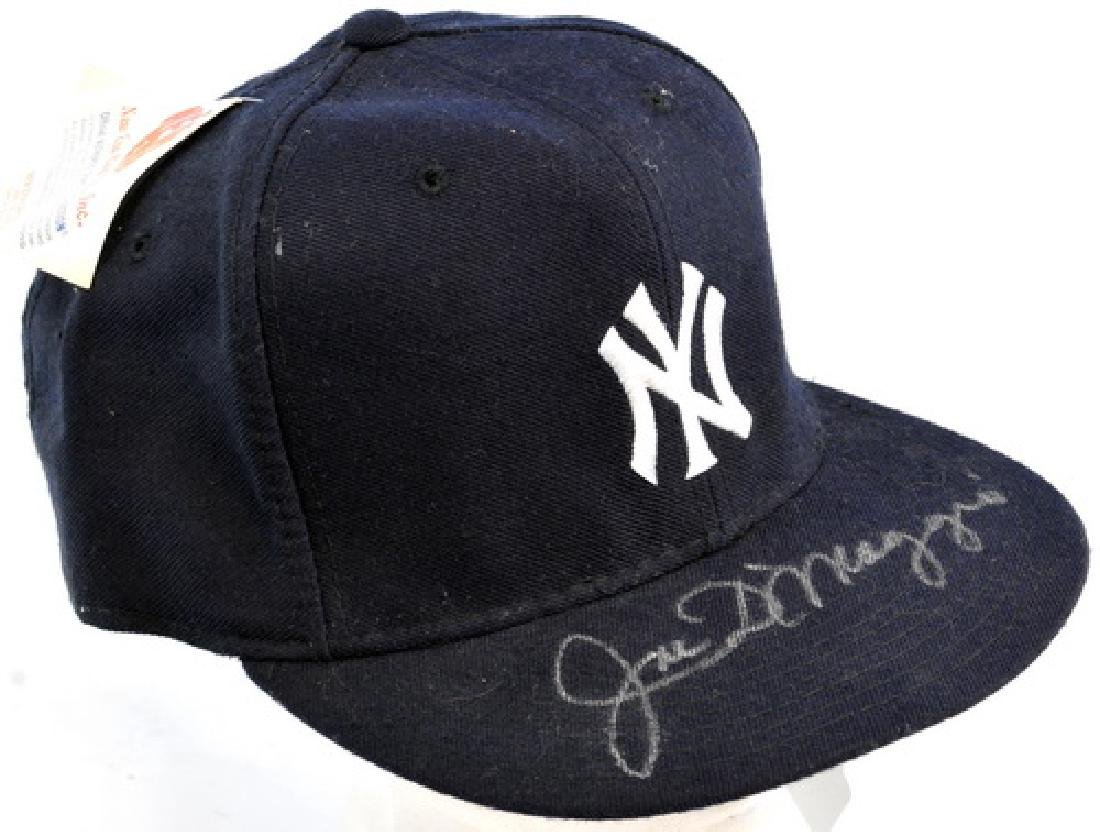 Joe DiMaggio Signed Baseball Hat