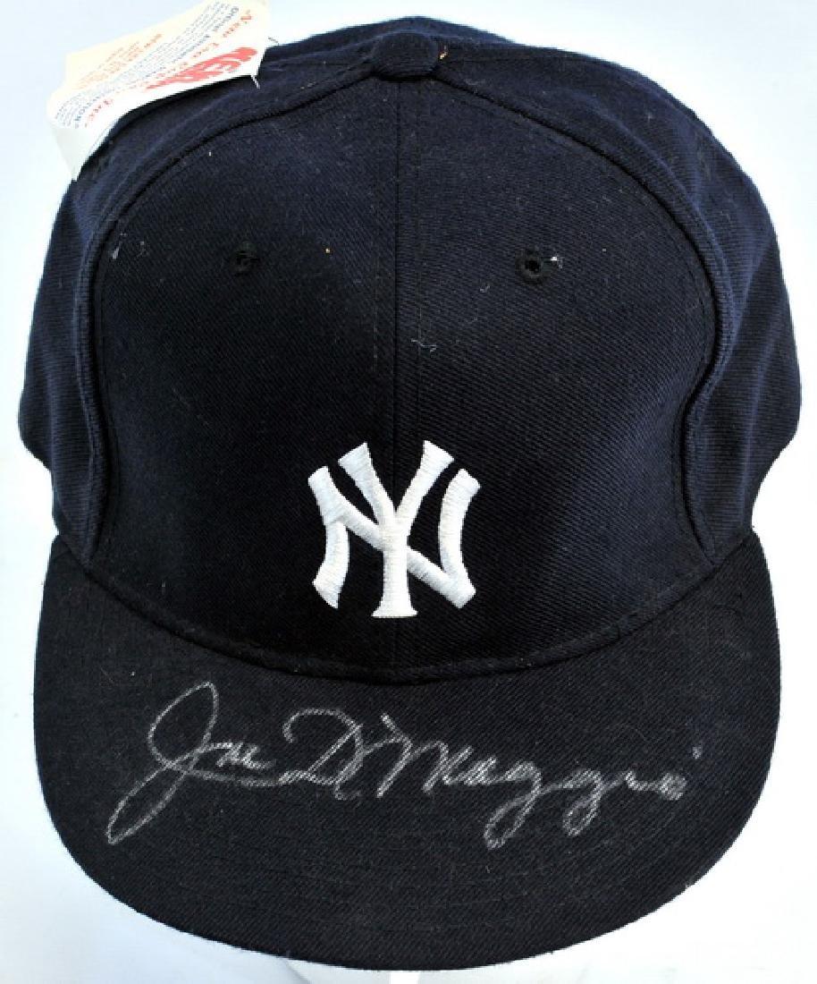 Joe DiMaggio Signed Baseball Hat - 2