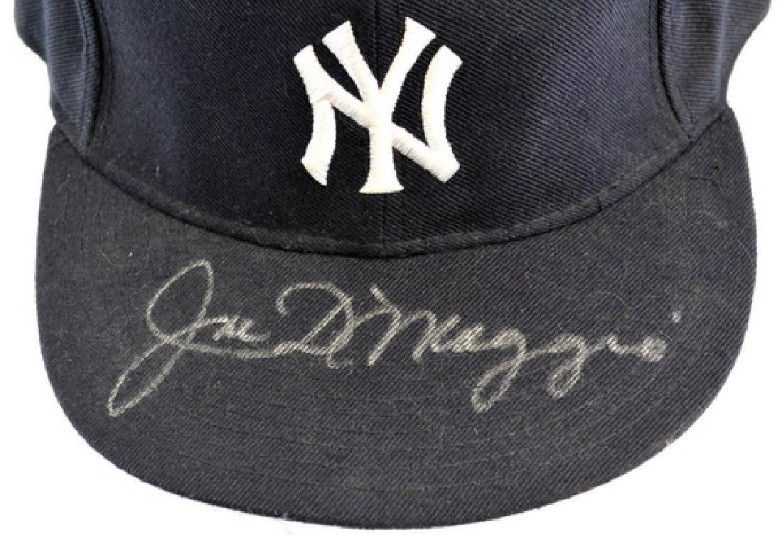 Joe DiMaggio Signed Baseball Hat - 3