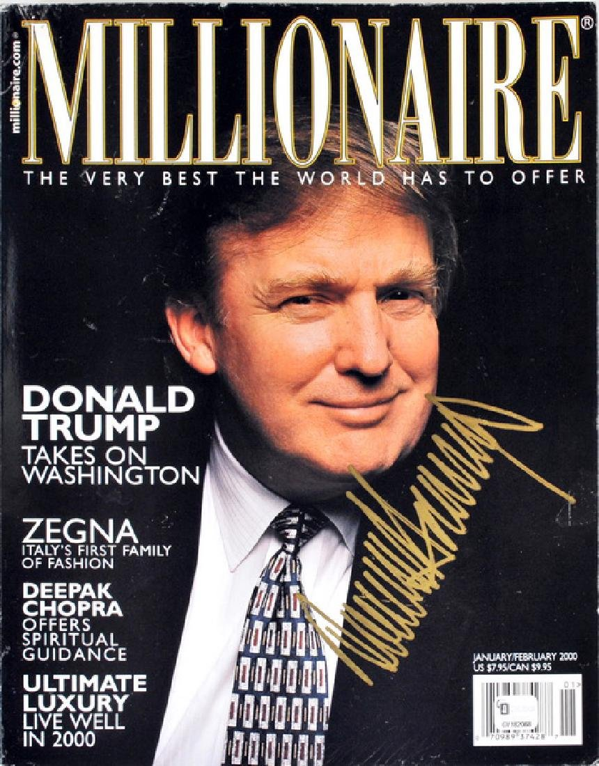 Donald Trump Signed Magazine/currency