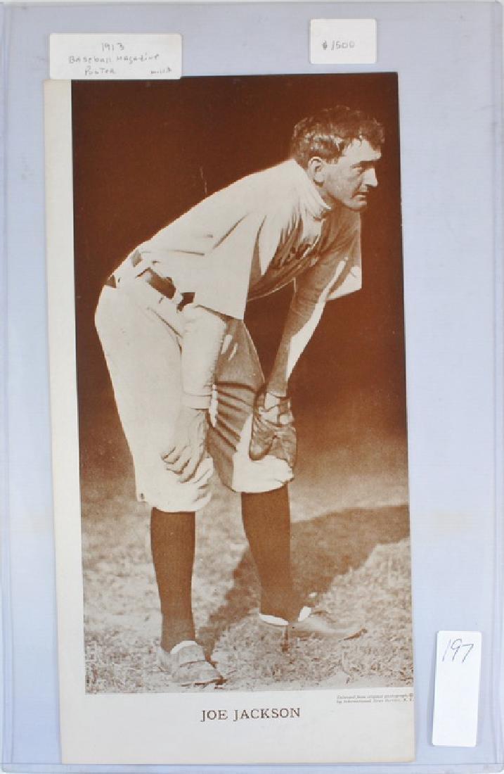 Joe Jackson 1913 Baseball Magazine Poster