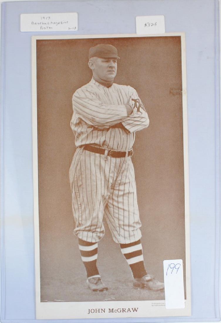 1913 John Mcgraw Baseball Magazine Poster