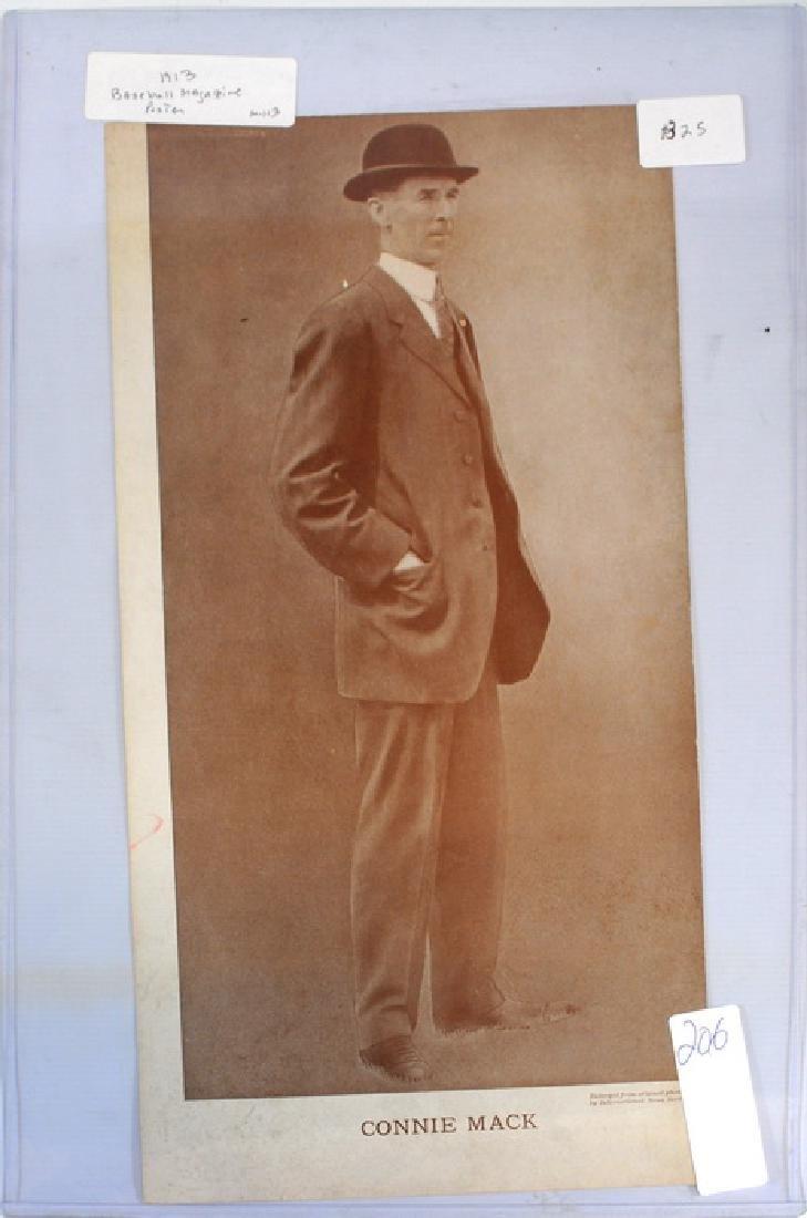 1913 Connie Mack Baseball Magazine Poster