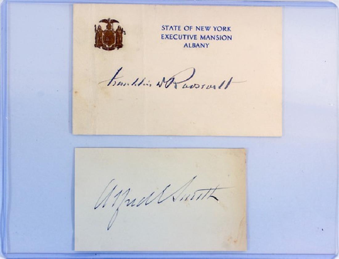 5 Vintage Autographs Fdr, Fuzzy Thurston