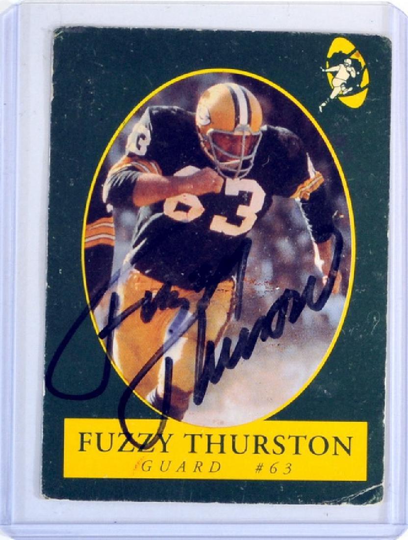 5 Vintage Autographs Fdr, Fuzzy Thurston - 3