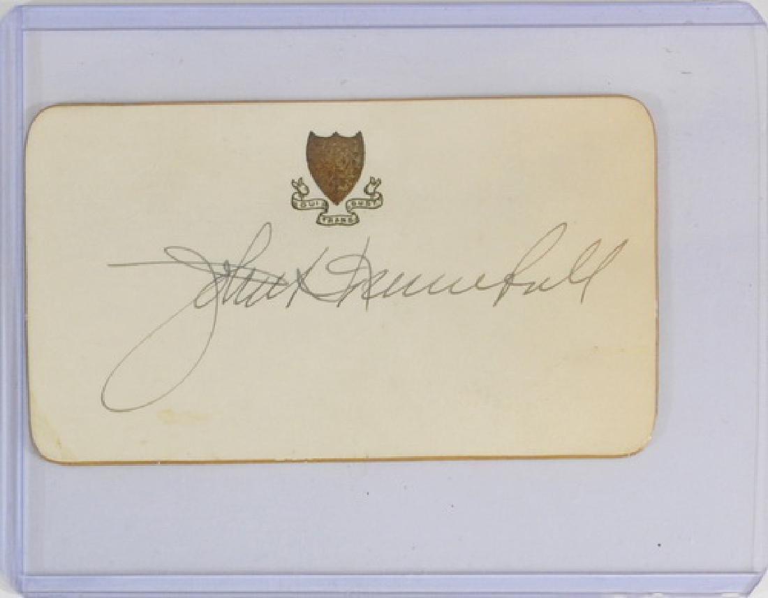 5 Vintage Autographs Fdr, Fuzzy Thurston - 4