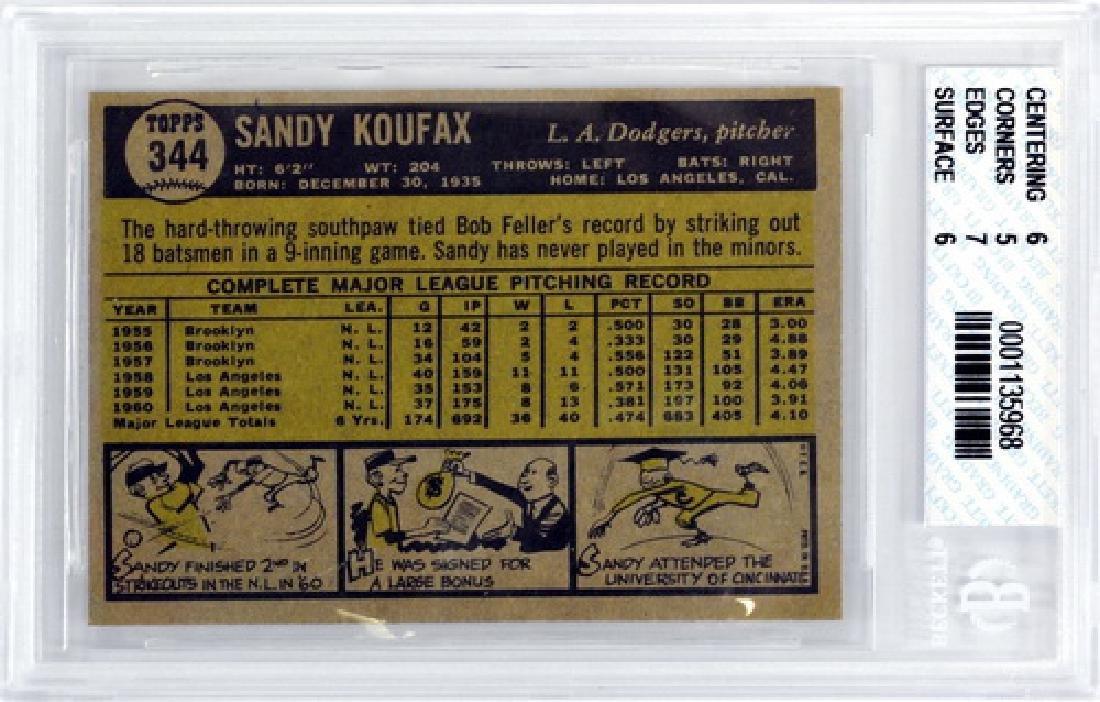 1961 Topps Sandy Koufax Bvg 5.5 - 2