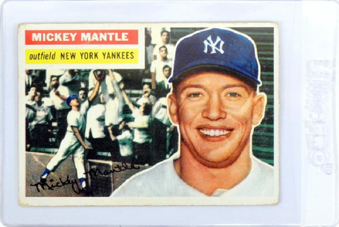 1956 Topps Mickey Mantle Ungraded