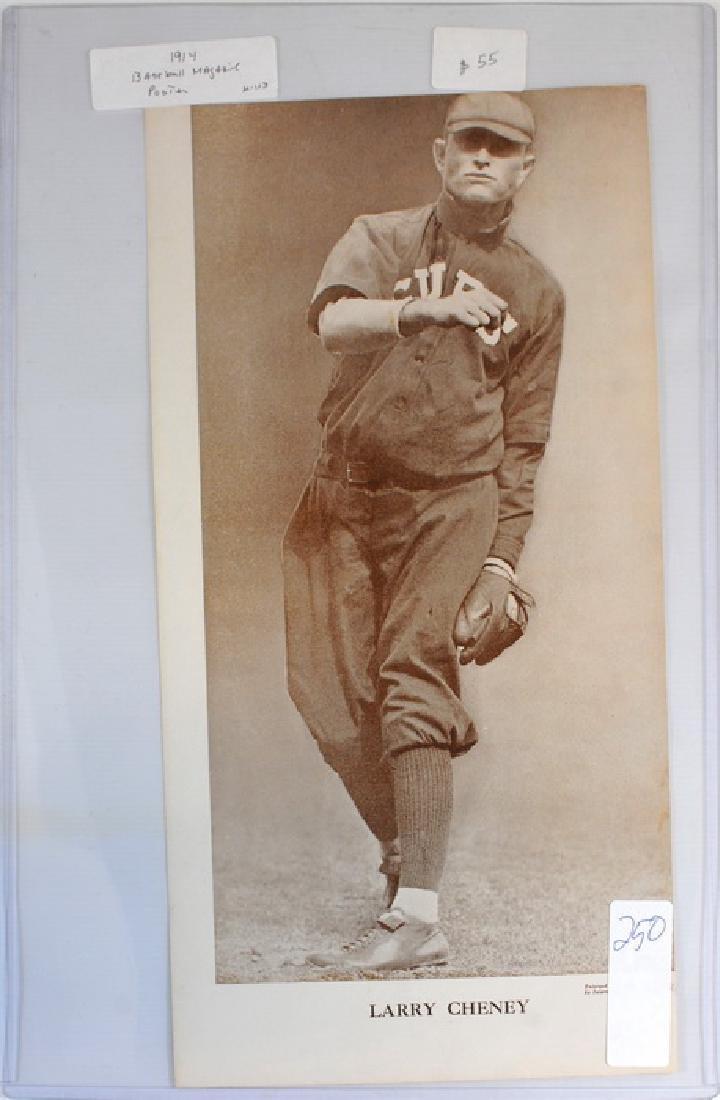 1914 Larry Cheney Baseball Magazine Poster