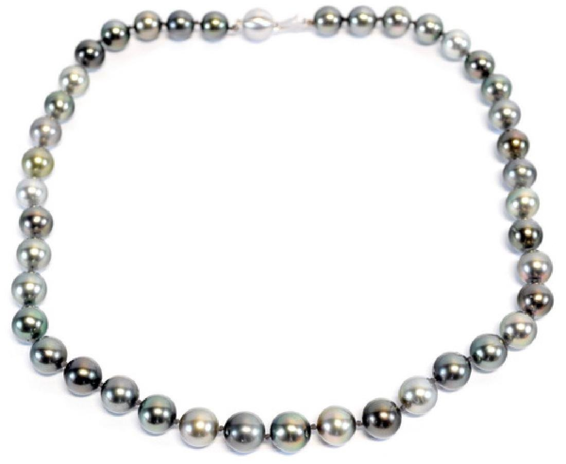 Tahitian Pearl Necklace With 14kt. Clasp