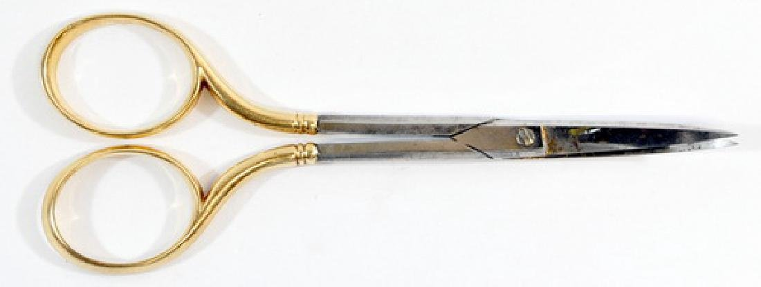 Small Scissors with 14k Gold Handles